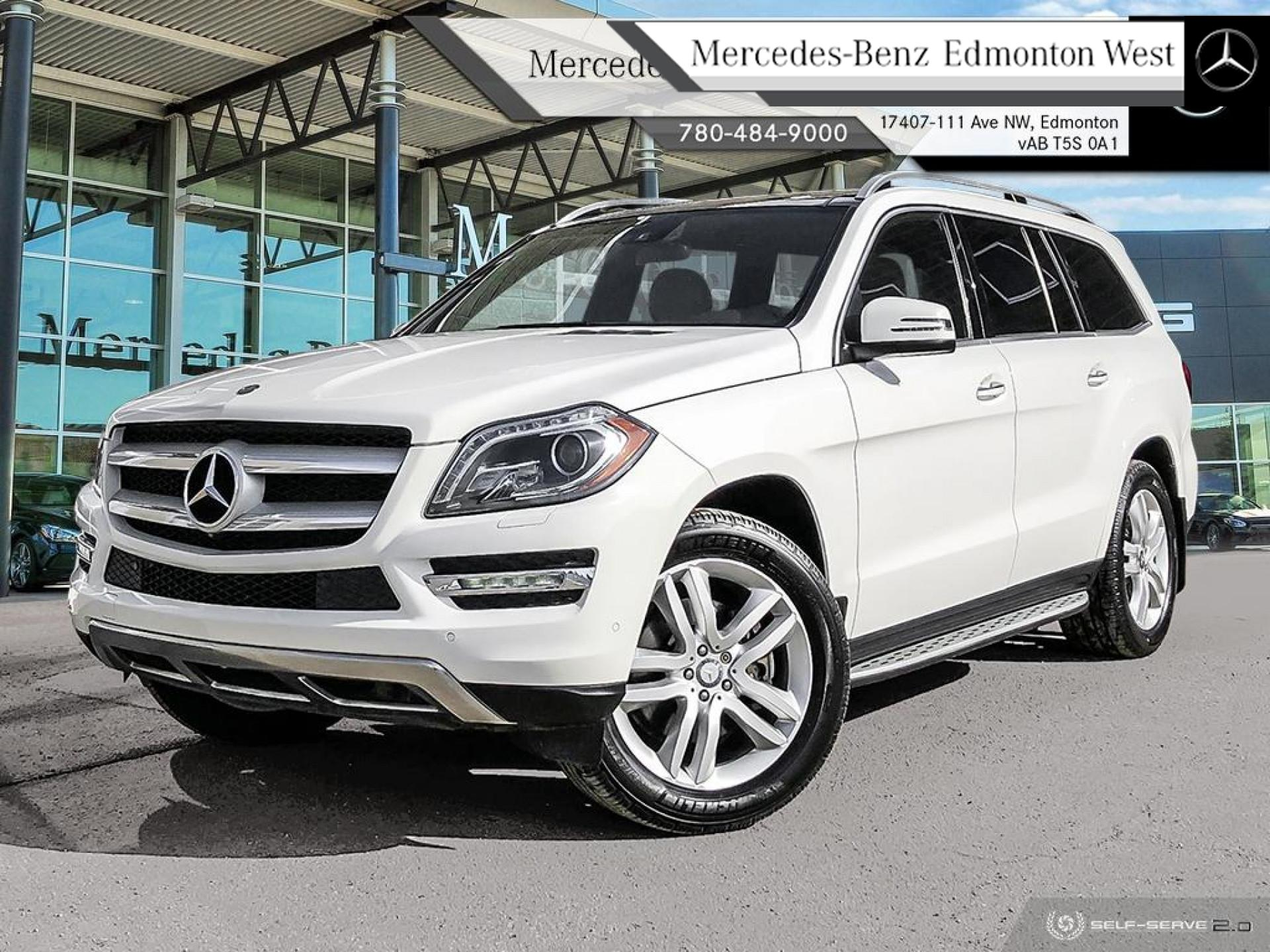 Pre-Owned 2015 Mercedes Benz GL-Class 450 4MATIC One Owner, Local Vehicle, Premium Package, Upgraded Leather, Extended Warranty to 160,000 km