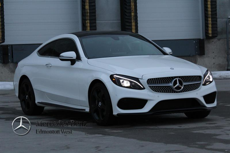 New 2017 mercedes benz c class c300 coupe in edmonton for Mercedes benz c service cost