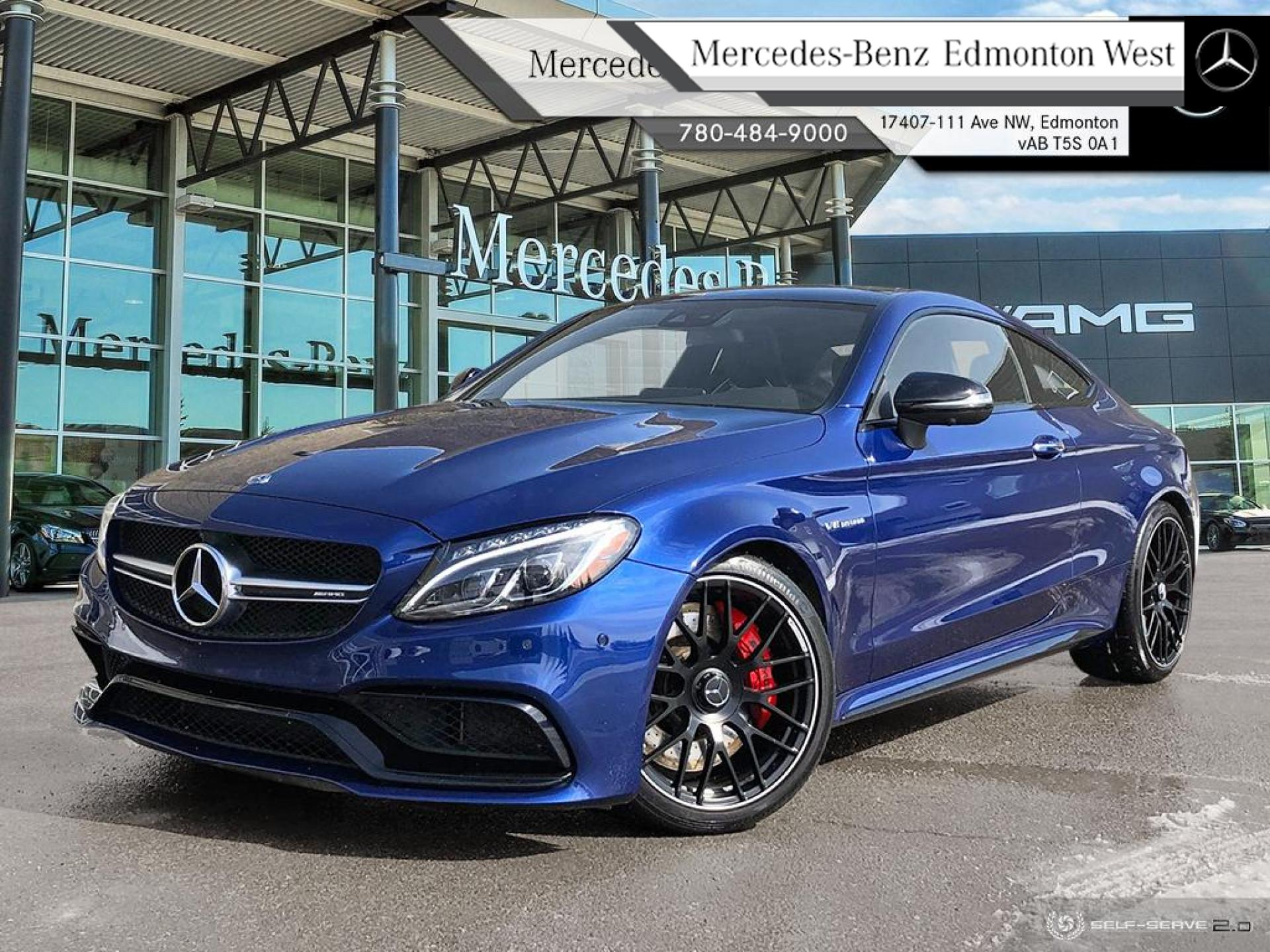 Certified Pre-Owned 2017 Mercedes Benz C-Class C63S AMG Coupe Star Certified Extended Warranty, No Accident Records, One Owner