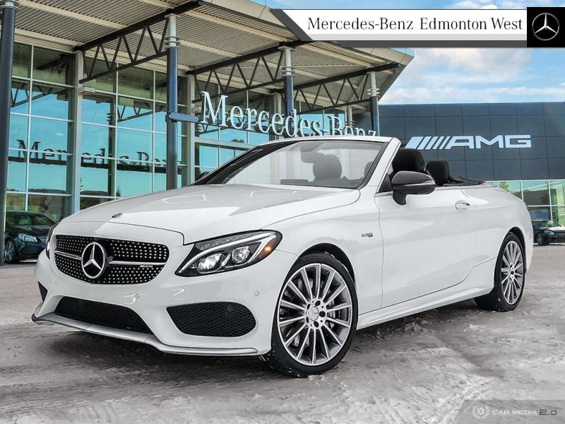 Pre-Owned 2018 Mercedes Benz C-Class AMG C 43 4MATIC Cabriolet Star Certified, Low Rates Available, Soft-Top Convertible!